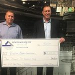 Mortgage Equity Partners raises money to help fight cancer with a donation to the Boston Bruins Foundation Pan Mass Challenge Team to benefit Dana Farber Cancer Institute