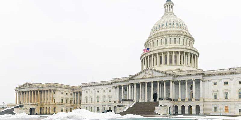 a frozen capital hill