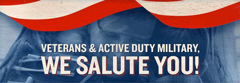 Veterens and active duty salute